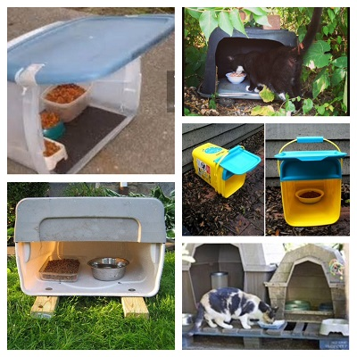several more easy feeding station ideas
